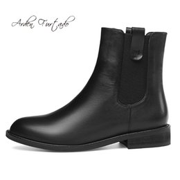 a180816bda9 Fashion women s shoes in winter 2019 round toe women s boots short boots  pure color concise black leather mature classics
