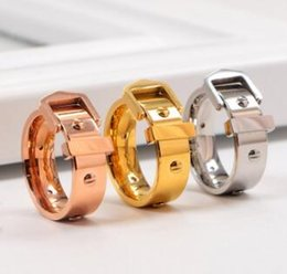 $enCountryForm.capitalKeyWord Australia - Good quality titanium steel silver rose gold love ring gold ring for lovers couple ring Wedding Rings 21