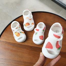 Sandals For Infant Boys Australia - 2019 Mesh Closed Toe Baby Beach Sandals Black Gray Pink Infant Girls Boys Soft Rubber Summer Shoes For Kids