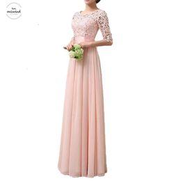 Robes 5xl online shopping - Summer Dress Women Party Dresses Female Robe Chiffon Lace Dress Maxi Floor Length Long Gowns Elegant Ladies Dress Plus Size Xl