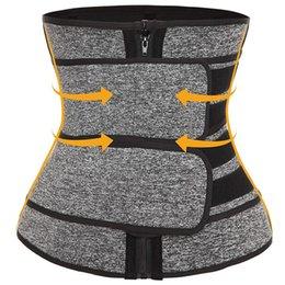 Großhandel Neue Ankunfts-Slimmerbelt Body Shaper Taille Trainer Bands Doppel Straps Cincher Korsett Fitness Sweat-Gurt-Gürtel Formwäsche DHL