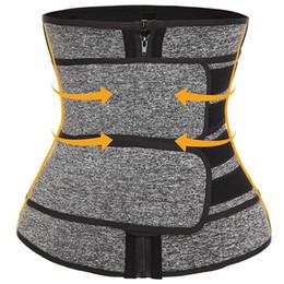 Premium Neoprene Waist Trainer Slimming Belt Body Shaper Bands Double Straps Cincher Corset Fitness Sauna Sweat Belt Girdle Shapewear DHL on Sale