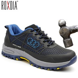 $enCountryForm.capitalKeyWord Australia - Roxdia Brand Steel Toecap Men Work & Safety Boots Summer Breathable Insulation 6kv Impact Resistant Male Shoes Size 38-44 Rxm115MX190820