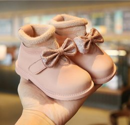 Boys shoes years old online shopping - 2019 autumn and winter new female baby princess shoes soft bottom years old baby toddler shoes plus velvet cotton