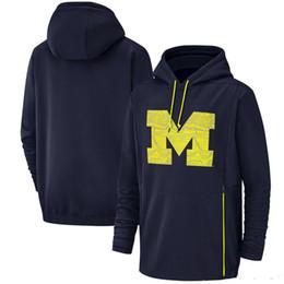 $enCountryForm.capitalKeyWord UK - 2019 New Men Michigan Wolverines Sweatshirt Salute to Service Sideline Therma Performance NCAA Navy Blue Pullover Hoodie