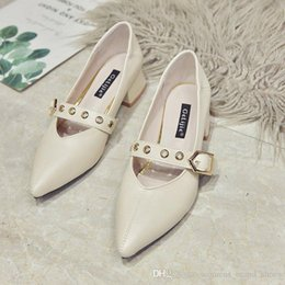 $enCountryForm.capitalKeyWord Australia - 2019 fashion brand Thick and single shoes women autumn new versatile Korean version of the pointy beans with low heels for women s shoes