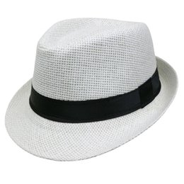 $enCountryForm.capitalKeyWord NZ - LNPBD 2017 Hot sale Summer Style Child sunhat Beach Trilby Sun hat Straw panama Hat For boy girl Fit For Kids Children 54 cm C19011401