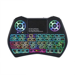 $enCountryForm.capitalKeyWord UK - Mini Keyboard I9 Plus Colorful Backlight Air Mouse With Touchpad Remote Control Work For Android TV BOX TV Mini PC Projector X96 DHL Free