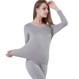 d3c8ef054760 Thin Slim Solid Color Long Johns Thermal Underwear For Women Sexy Seamless  Winter Thermal Underwear Set Lingerie Intimates
