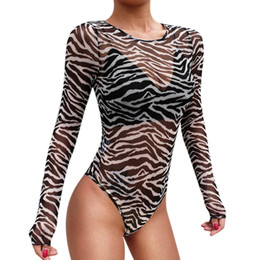 $enCountryForm.capitalKeyWord Australia - Rompers women Female Fashion Slim Women Sexy Jumpsuit Leotard long sleeve Leotard striped Jumpsuits Rompers
