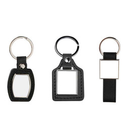 Chain Hot Boys UK - new arrival sublimation strip square pu leather key chain hot transfer printing key ring consumables 3styles