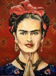 $enCountryForm.capitalKeyWord Australia - Frida Kahlo Art Self Portrait,Oil Painting Reproduction High Quality Giclee Print on Canvas Modern Home Art Decor 184