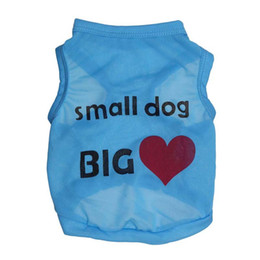 Cheap Female Clothing Australia - CHUN 2019 Hot B cheap pet dog cat clothes small dog big love vest thin Full polyester pink crown letter vest wholesale Teddy clothes