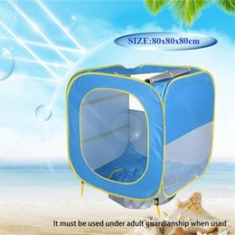 tent houses for kids UK - Foldable Pool Tent kids Baby Play House Indoor Outdoor UV Protection Sun Shelters For Children Camping Beach Swimming Pool Toy Tents CYZ406