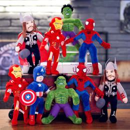 Captain ameriCa games online shopping - The Avengers Plush Toys Inch Captain America Raytheon Hulk iron Man Decoration Cartoon Soft Network Popular Marvel hero Plush Toys