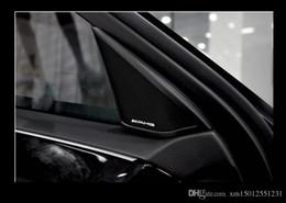 $enCountryForm.capitalKeyWord Australia - 100pcs lot 3D metal for amg Aluminum Car steering wheel emblem sticker audio Speaker car stickers car styling badge logo cardoor decoration