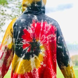 $enCountryForm.capitalKeyWord Australia - 19FW new designer brand Drew House Tie Dyeing Hoodies JUSTIN BIEBER Sweatshirts Couple Top Oversize Coats good quality Fashion Hooded HipHop