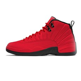 34637d93857e7e High Quality 12 12s mens basketball shoes sneakers OVO White Gym Red Dark  Grey sports Basketball Shoes Taxi Blue Suede Flu Game CNY 858
