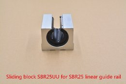 Linear Blocks Australia - SBR25UU aluminum block 25mm Linear motion ball bearing slide block match use SBR25 25mm linear guide rail 1pcs