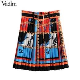 Women's Clothing Bottoms Supply England Classic Plaid Skirts Womens Vintage Fashion Grid Pattern Midi Length Pleated Big Swing Flared A-line Cotton Skirt Faldas