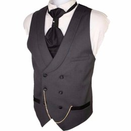 $enCountryForm.capitalKeyWord UK - Custom Made Dark Gray Men Suit Vests Slim Fit Formal Waistcoat For Man Wedding Prom Vest double-breasted