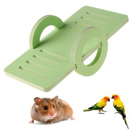 $enCountryForm.capitalKeyWord Australia - Lovely Wooden Hamster Seesaw Toy Candy Color Pet Small Animal Playground Toys