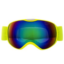 Frame Goggles Ski UK - Children Full Frame Dustproof Goggles Windproof Skiing Anti-fog Spherical Double-layer Sports Skate Training Protective