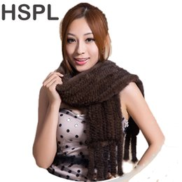 $enCountryForm.capitalKeyWord UK - wholesale Hot sale Real Mink Fur Scarf Women Knitted Natural Mink Fur Scarves Black and Brown color scarf available