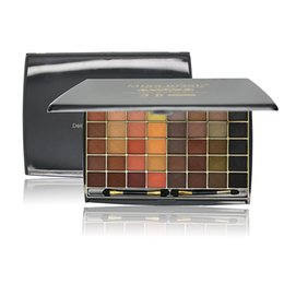 3d Eye Glitter UK - Fashion Miss Rose 48 Colors Natural Metallic Eye Shadow Palette matte Earth Color glitter 3D eye shadow palette maquillage