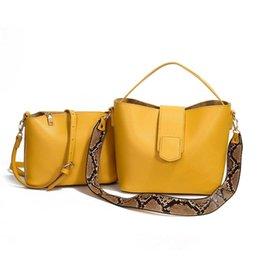 $enCountryForm.capitalKeyWord Australia - Osmond 2 Pcs PU Leather Handbag Women Tote Bag Ladies Black Shoulder Bag For Women 2019 Messenger Sac a Main Bags Set