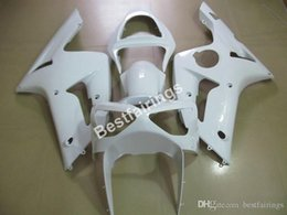 $enCountryForm.capitalKeyWord Australia - Injection molding free customize fairing kit for Kawasaki Ninja 636 ZX6R 03 04 white fairings kits ZX6R 2003 2004 MT12
