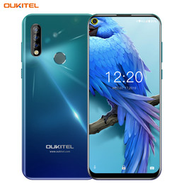 "China 6.35"" Punch-hole Full Screen OUKITEL C17 4G LTE Octa Core 3GB 16GB Android 9.0 Face ID Fingerprint Ultra-wide Angle 13MP 3 Camera Smartphone supplier cameras stores suppliers"