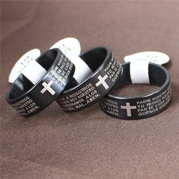 $enCountryForm.capitalKeyWord Australia - DAIHE Jesus Christian Cross Rings Scripture Ring Men's Fashion Titanium Steel Jewelry Gifts