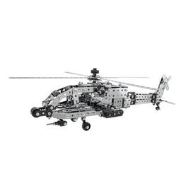 $enCountryForm.capitalKeyWord Australia - 620Pcs Apache Helicopter Intelligent Construction Set 3D Stainless Steel Model Kit DIY Gift Model Building Educational Toys