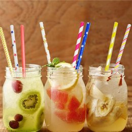decorative drinking straws NZ - 25PCS Creative Paper Straw Disposable Striped Decorative Drinking Straw Party Straw For Wedding Party Supplies Disposable Cups Straws
