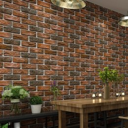 $enCountryForm.capitalKeyWord NZ - Waterproof Vintage 3D brick Effect Wallpaper Roll Modern Rustic Realistic Faux Stone Texture Vinyl PVC Wall Paper Home Decor