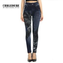 $enCountryForm.capitalKeyWord Australia - S-XL High Elastic Women Black Cat Imitation Jeans Pattern Fashion Slim Seamless Pants Trousers Denim Leggings Y190603