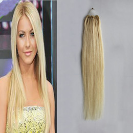 Ombre Micro Rings Australia - 100g Micro Loop Ring Hair Extensions 1g strand Micro Bead Link Human Hair Extensions Colored Hair Locks 18''-24''