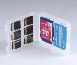 plastic cases for sd memory cards Australia - New 8 in 1 Plastic Case Box For TF Micro SD Memory Card for SDHC TF MS Protector Holder High Quality SN3651