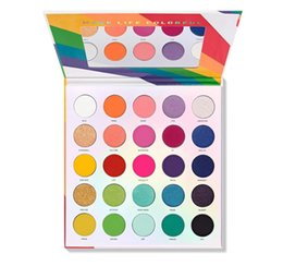 living shadow Australia - Hot Charles 25L Colors LGBT Cosmetic Live In Color Eyeshadow Palette Matte Glitter Eye Shadow Makeup Pallete Maquillaje