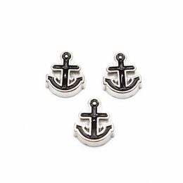 $enCountryForm.capitalKeyWord Australia - New novelty 20pcs lot silver boat anchor Alloy floating charms living memory floating lockets charms for DIY Accessory