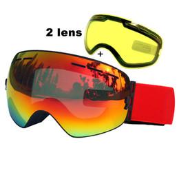 $enCountryForm.capitalKeyWord Australia - Double Lens Ski Goggles Anti-fog Uv400 Spherical Ski Glasses Skiing Snow Snowboard Goggles Ski Eyewear Brightening Lens