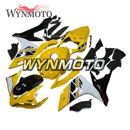 $enCountryForm.capitalKeyWord Canada - Motorcycle Fairings For Yamaha YZF 1000 R1 2007 2008 gloss yellow White ABS Plastic Injection motorbike cowlings covers