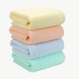 Chinese  Adults checkered Cotton Shower Towels 140*70cm Lady SPA Terry Body Wrap Bath Towels Big Bath Sheets Towels Home Hotel Supplies TTA298 manufacturers