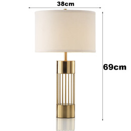 $enCountryForm.capitalKeyWord Australia - Modern Designer Table Lamp Glass Lights Living Room Bedroom Bedside Fabric Lampshade Decor Home Lighting Fixtrues E27 90-260V