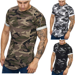 $enCountryForm.capitalKeyWord Australia - Designer Summer Men's Round Neck T-shirt Design Sleeve Zipper Camouflage 3D Digital Casual Running Training Breathable Sports T-shirt