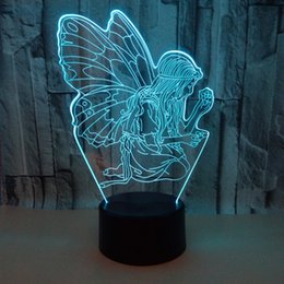 $enCountryForm.capitalKeyWord Australia - New Pattern Angel 3d Small Night-light Remote Control 3d Lamp Colorful Touch Led Vision Lamp Gift Atmosphere 3d Small Desk Lamp