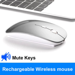 ultrathin laptop UK - Do Dower Rechargeable Wireless Mouse Slient Button USB Mini Optical Ultrathin Mice With Charging Cable for Computer Laptop