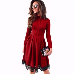 China Bucrsatn Free Shipping 2019 European and American new fashion casual pleated dress women's clothing suppliers
