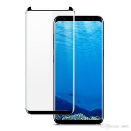 Box Brand Glasses NZ - Case Friendly Glass Full Cover For Samsung S10 Plus Note 9 Full Curved Protector Adhesive Edge For Samsung S8 S7 Edge Note 8 With Box